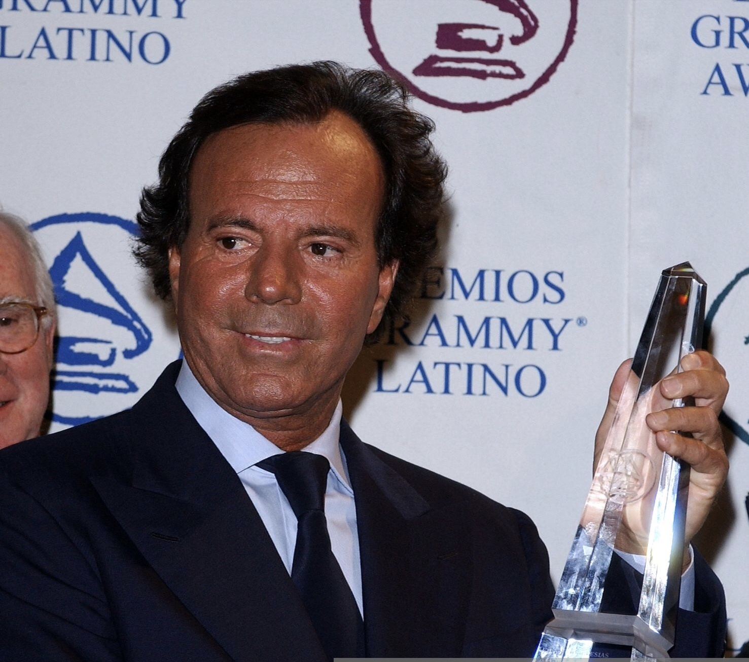 394257 06: Spain's Julio Iglesias receives the Latin Recording Academy's Person of the Year Award at press conference September 10, 2001 in Beverly Hills, CA. The award was part of a gala for nominees of the 2nd Annual Latin Grammy Awards to be held September 11.(Photo by Vince Bucci/Getty Images)